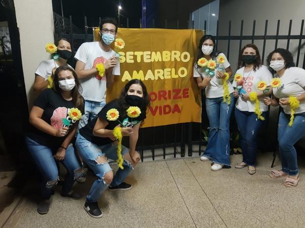 Curso de Psicologia da UNIFASIPE promoveu diversas ações para conscientização do Setembro Amarelo