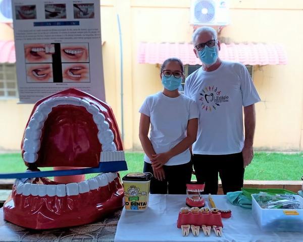 Curso de Odontologia da UNIFASIPE realizou palestras para crianças da Gleba